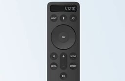 Image of a smart phone being used as a TV remote