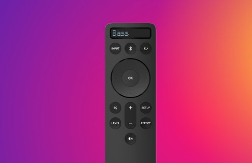 Image of a sound bar remote