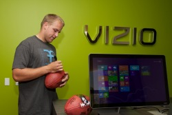 Eagles QB Matt Barkley Checks Out VIZIO