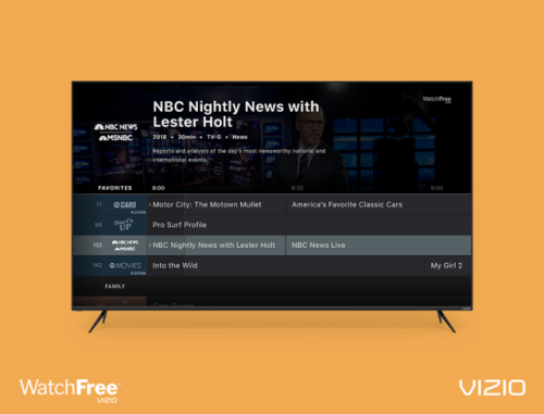 THE LATEST VIZIO WATCHFREE™ CHANNELS