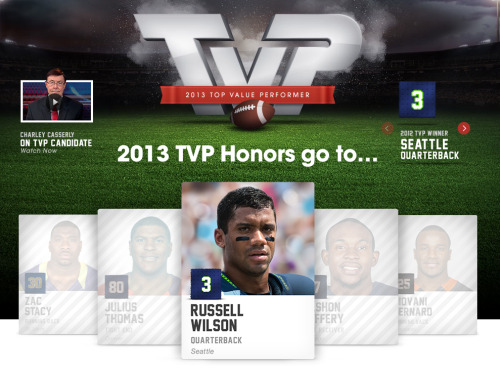 RUSSELL WILSON: 7TH ANNUAL VIZIO TOP VALUE PERFORMER