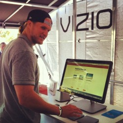 Clay Matthews Stops by the VIZIO Mobile Showroom